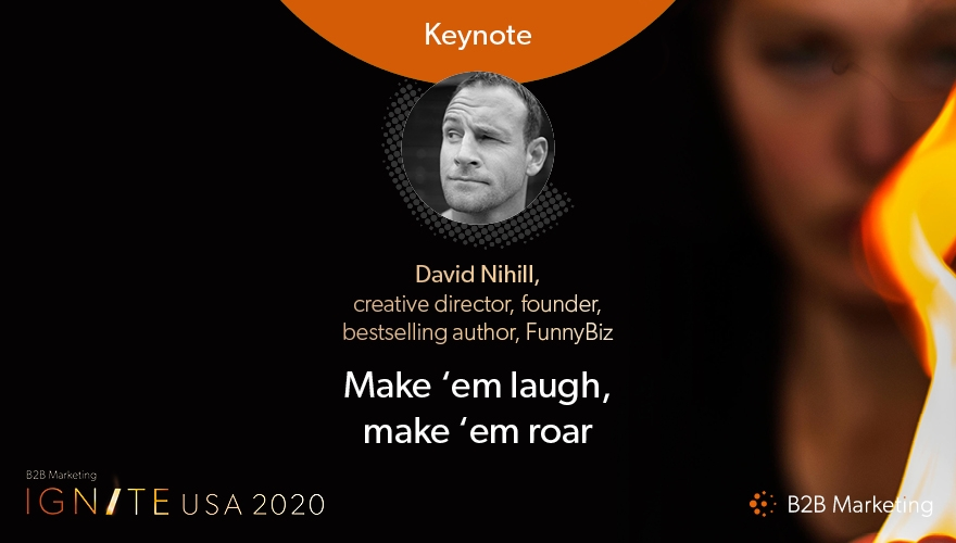 gnite USA 2020 Keynote session: Driving results with humor in B2B