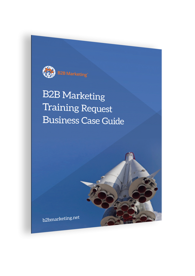 B2B Marketing Training Request Business Case Guide cover