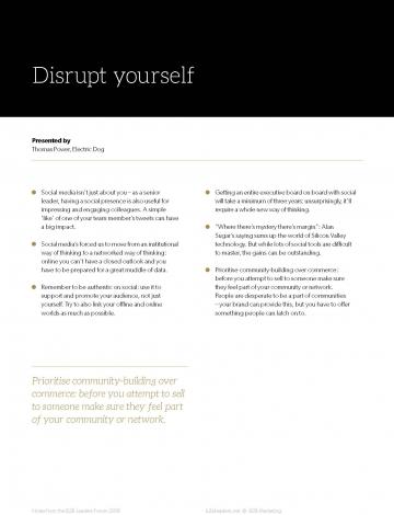 Leaders forum takeaways inside image
