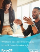What role does social selling play in multichannel marketing