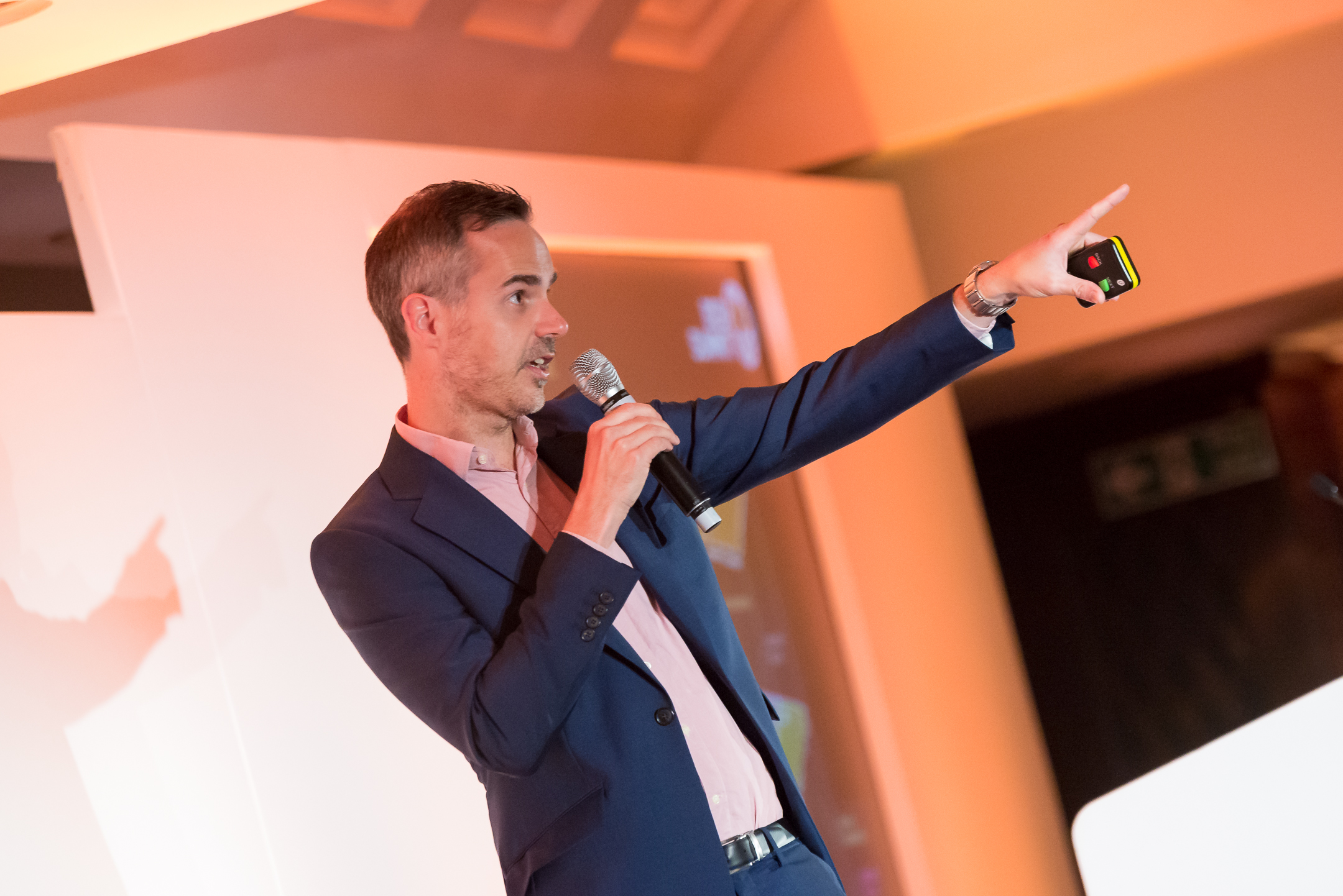 Joel Harrison, B2B Marketing's editor-in-chief, kicks of the day