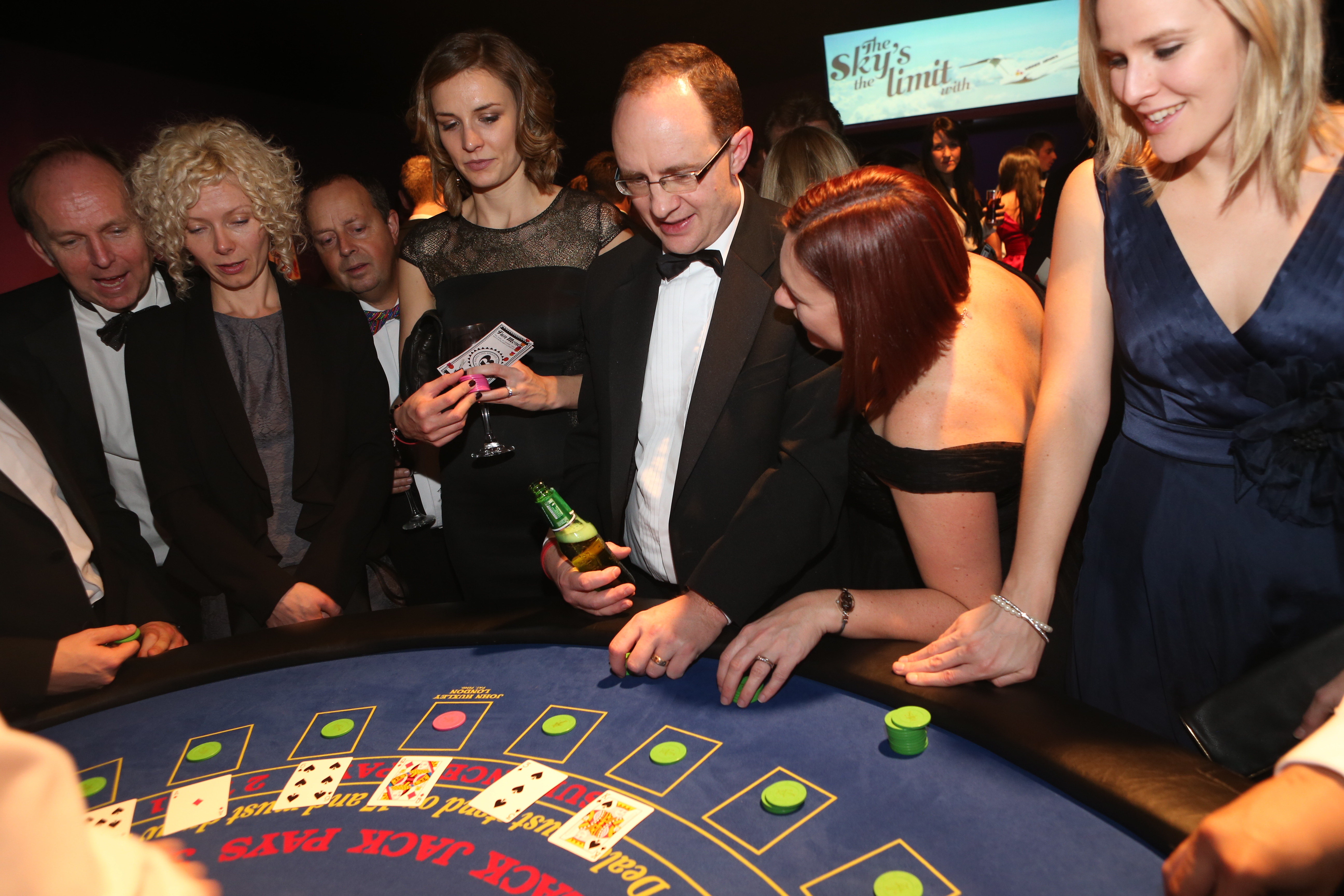 B2B Marketing Awards casino table