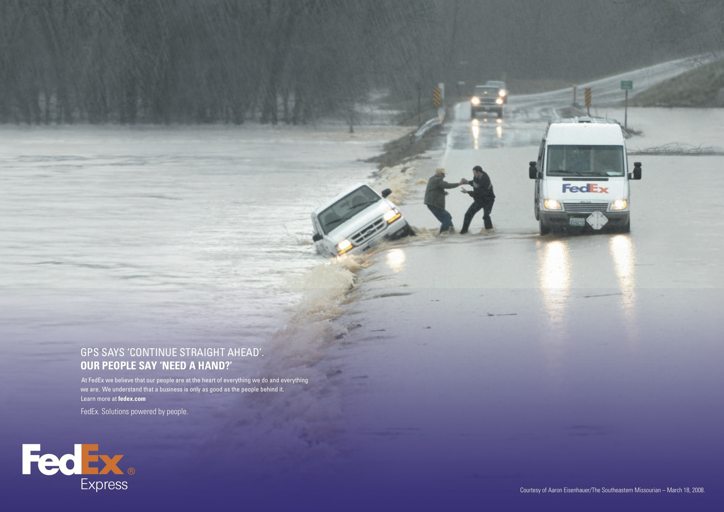 FedEx solutions powered by people campaign