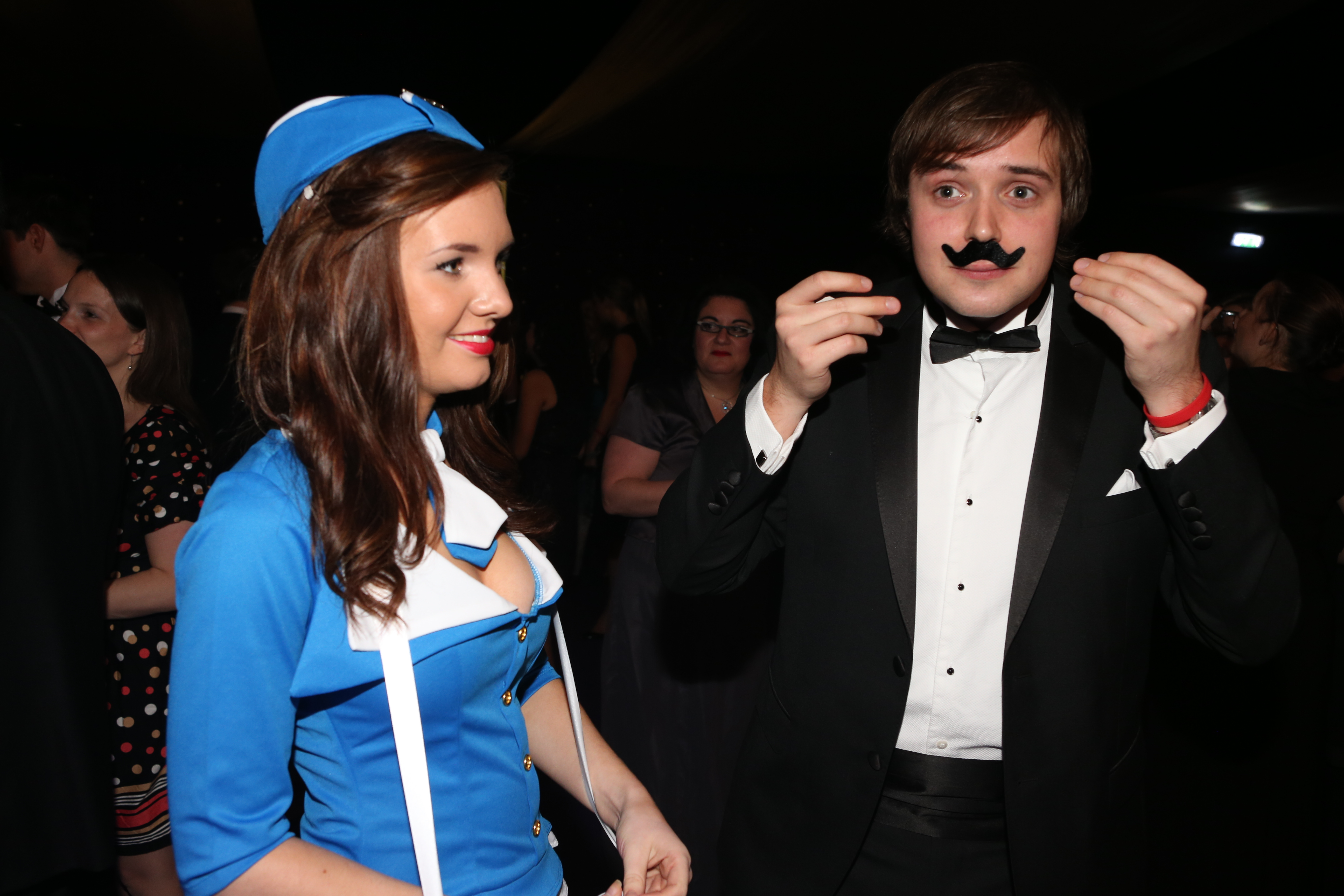 B2B Marketing air stewardess raises money for Movember