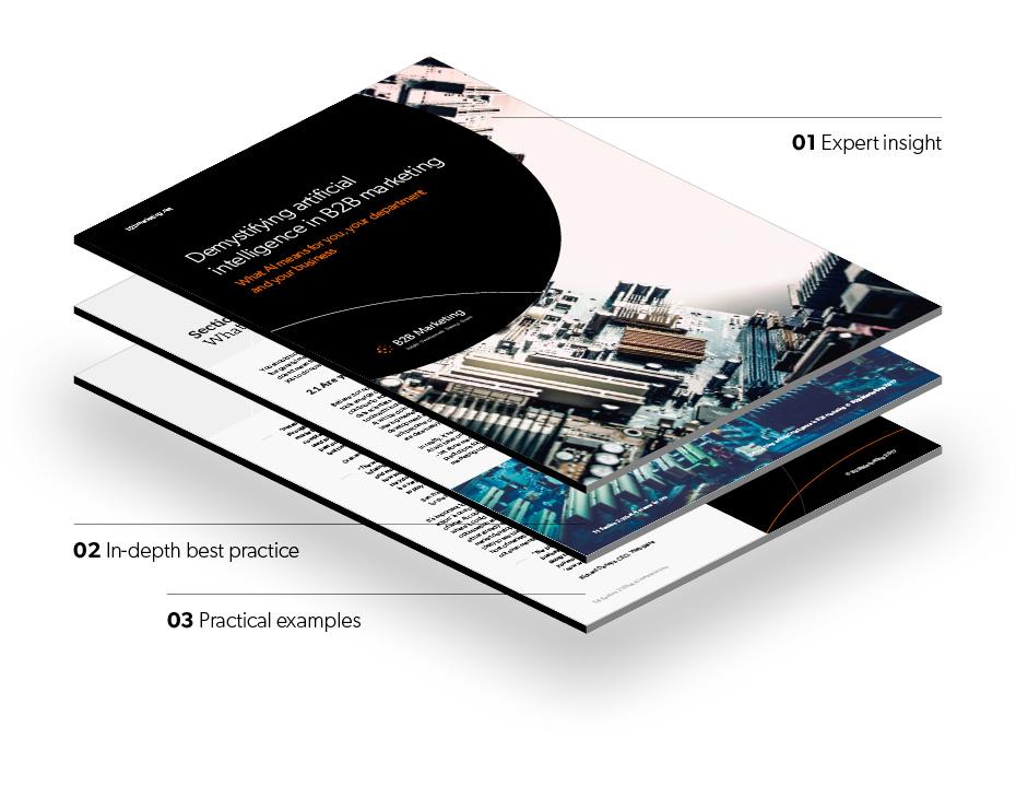 B2B marketing demystifying AI premium guide stack image