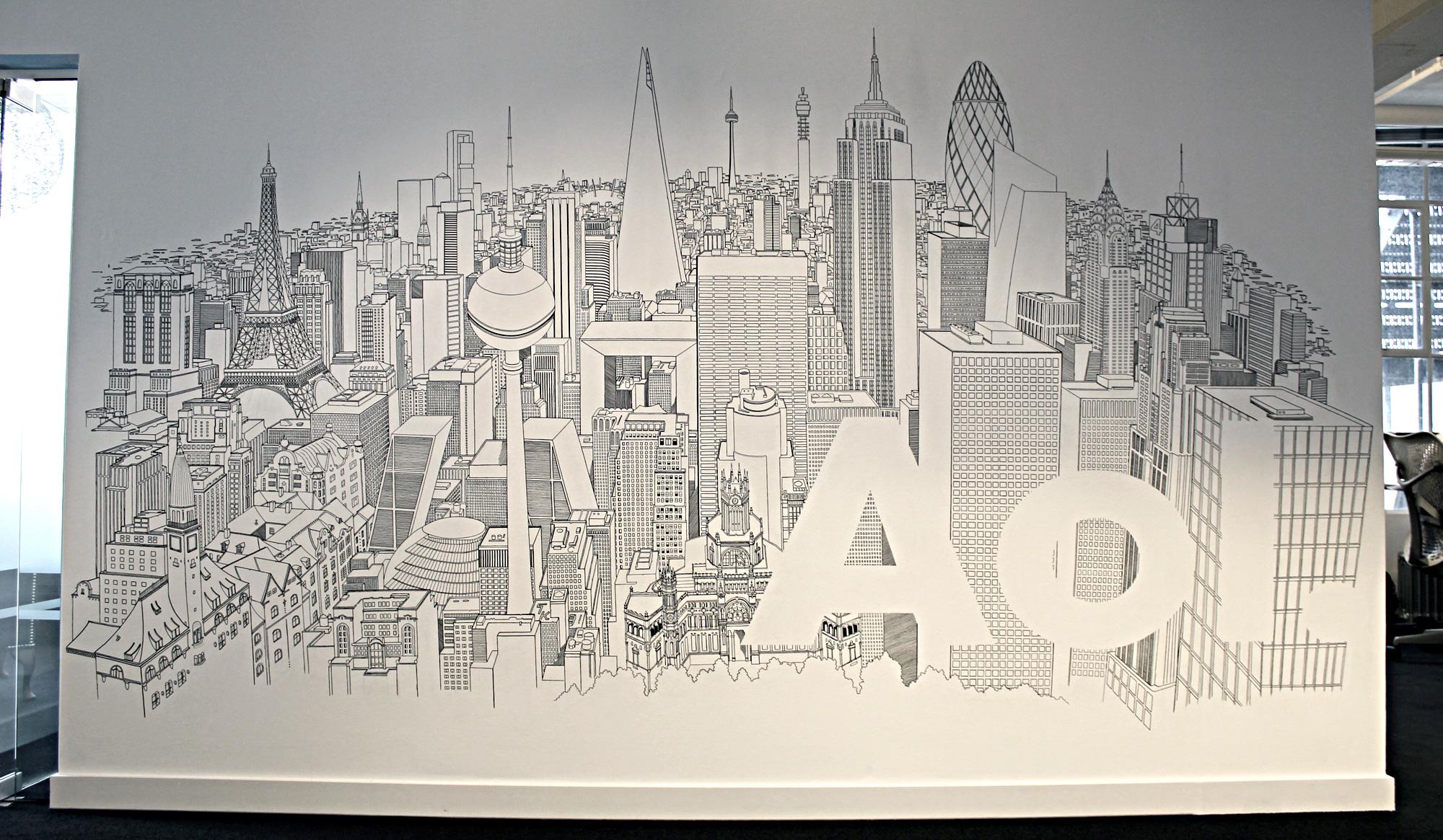 AOL mural