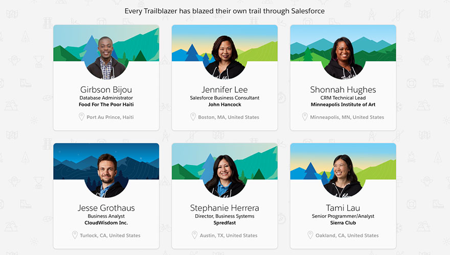 5 excellent examples of website UX from B2B brands Salesforce image