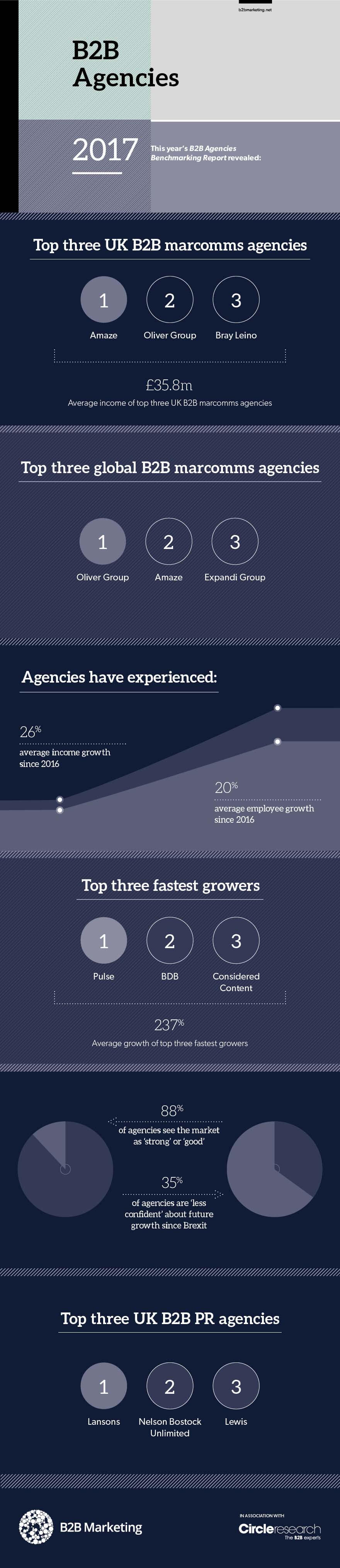 B2B Agencies Benchmarking Report Infographic