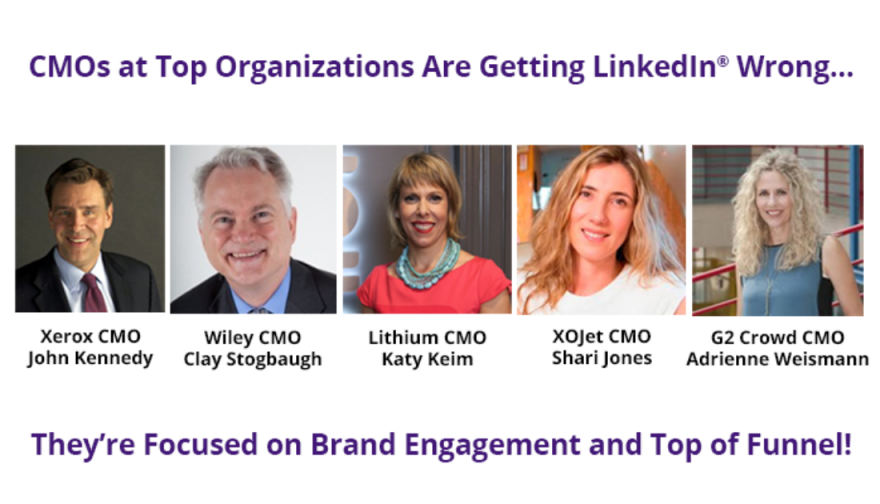 CMOs fail to go beyond brand awareness on LinkedIn and prove a clear social media ROI image