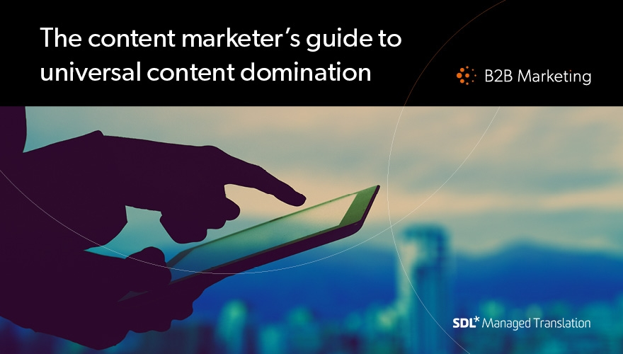 Over a quarter of marketers don't adapt content for foreign markets image