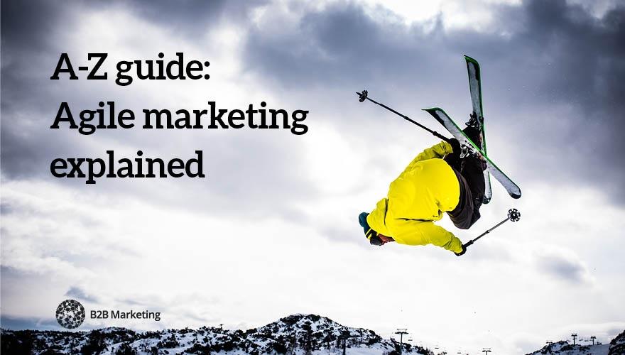 Agile marketing glossary header image