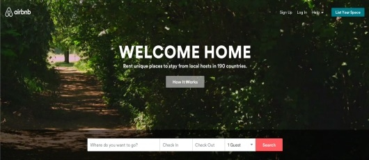 Airbnb website redesign