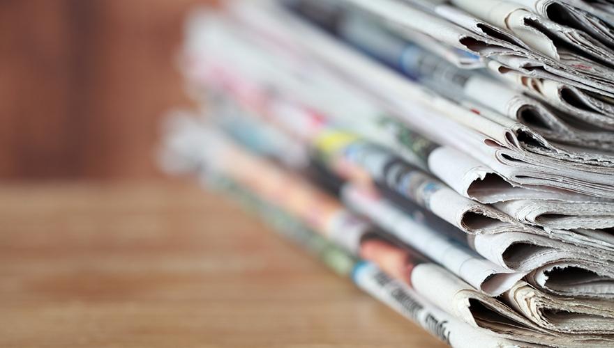 Newspaper stack image