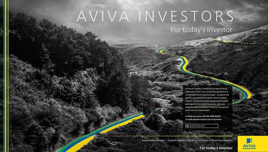 Aviva Investors harnesses high impact creative to deliver customer insight campaign image