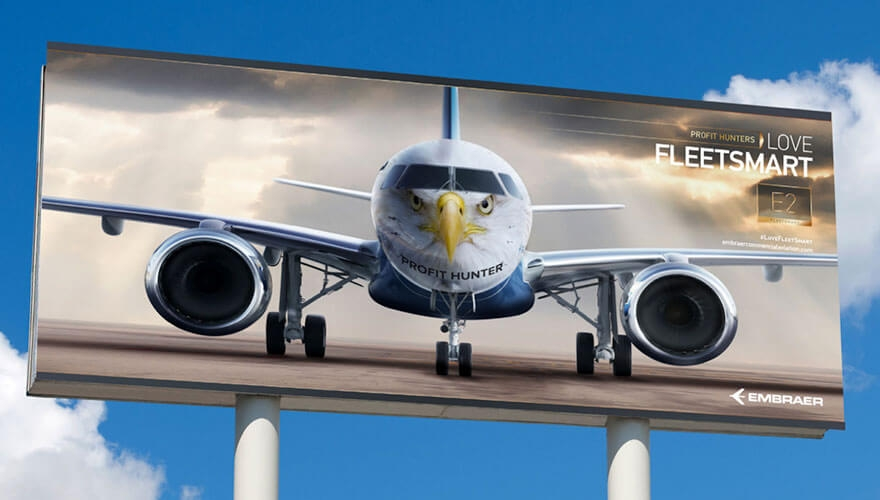 Awards case study: Embraer increases share of audience by 624% with challenger brand multichannel campaign image