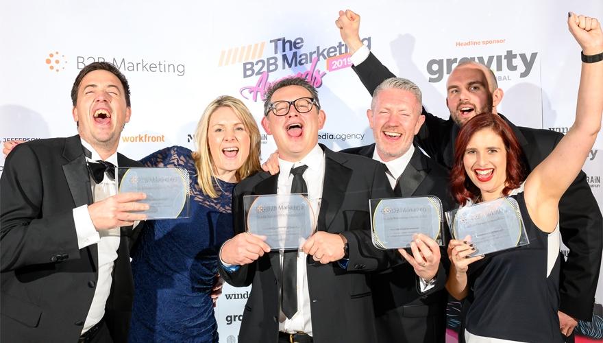 grand prix winners Octopus Group at the B2B Marketing awards