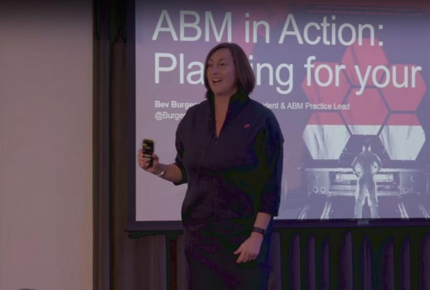 Bev Burgess keynote presentation at the B2B Marketing ABM Conference 2018