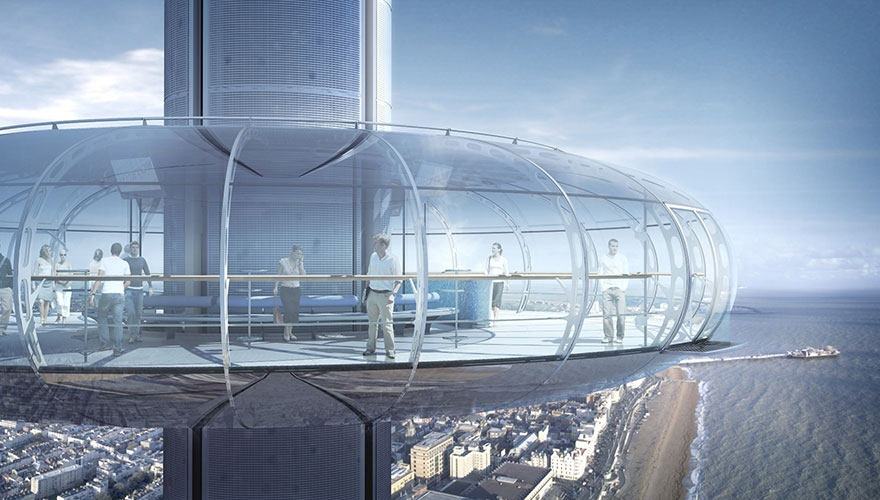 The tower will stand at 162 metres when built and offer panoramic views of the Sussex coastline