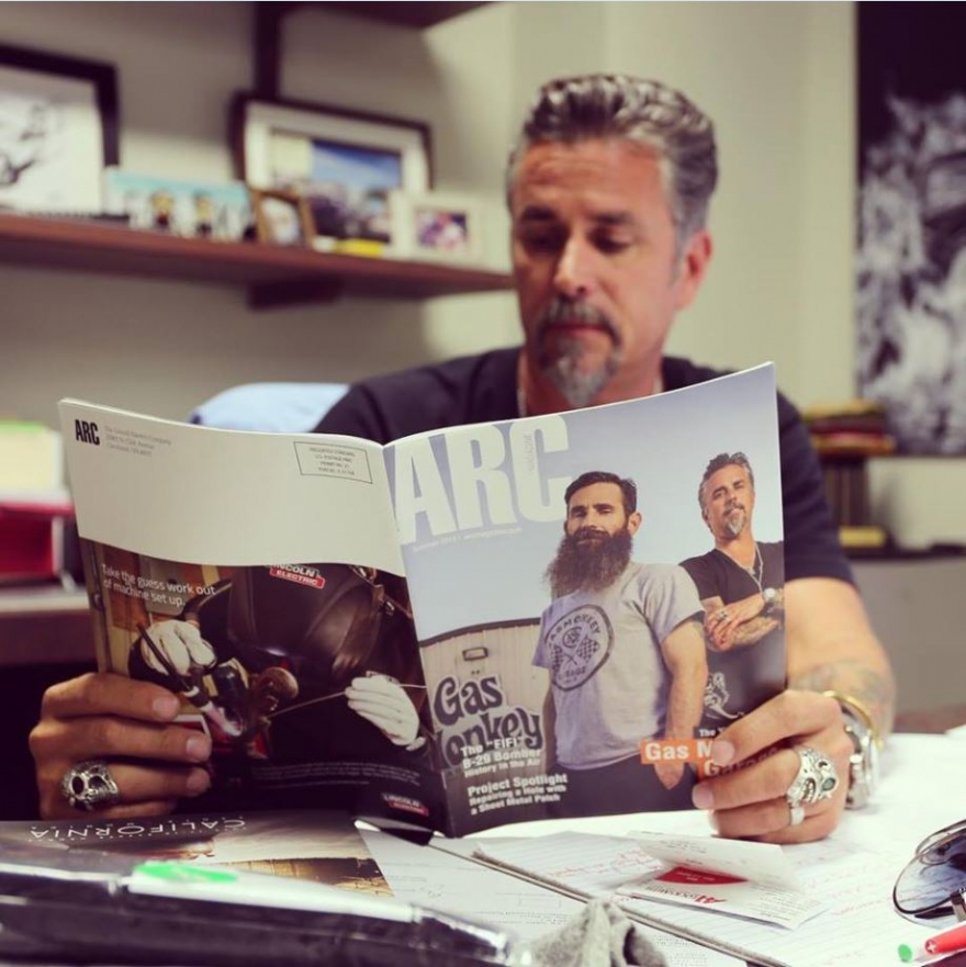 How Lincoln Electric is proving that print is not dead Gas Monkey Richard Rawlings image