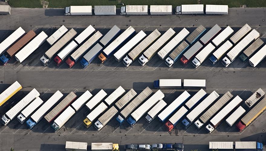 Trucks parking image