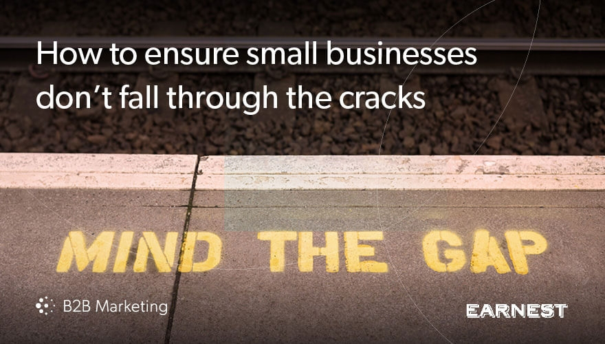 Ensuring small businesses don't fall through the cracks in your marketing and sales image