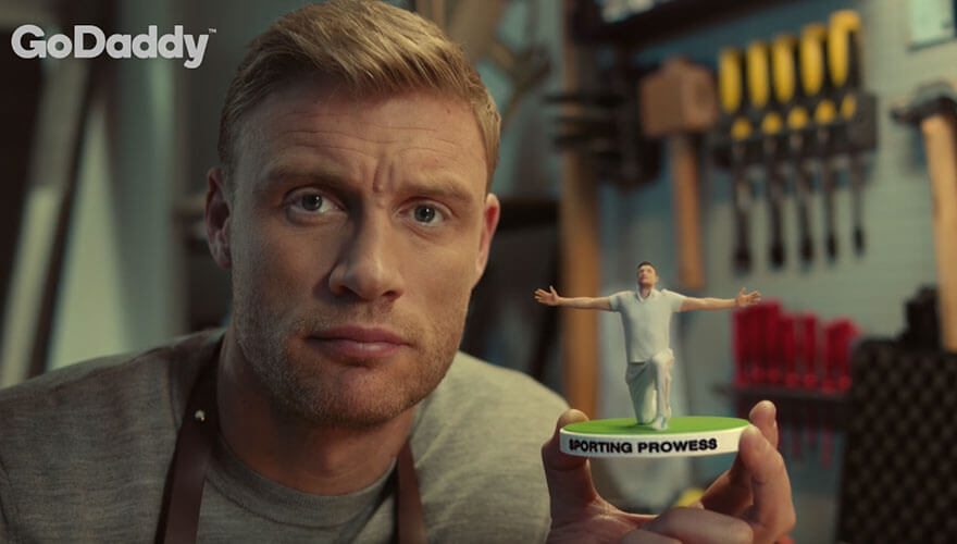 GoDaddy launches SME-targeted campaign headed by Freddie Flintoff image