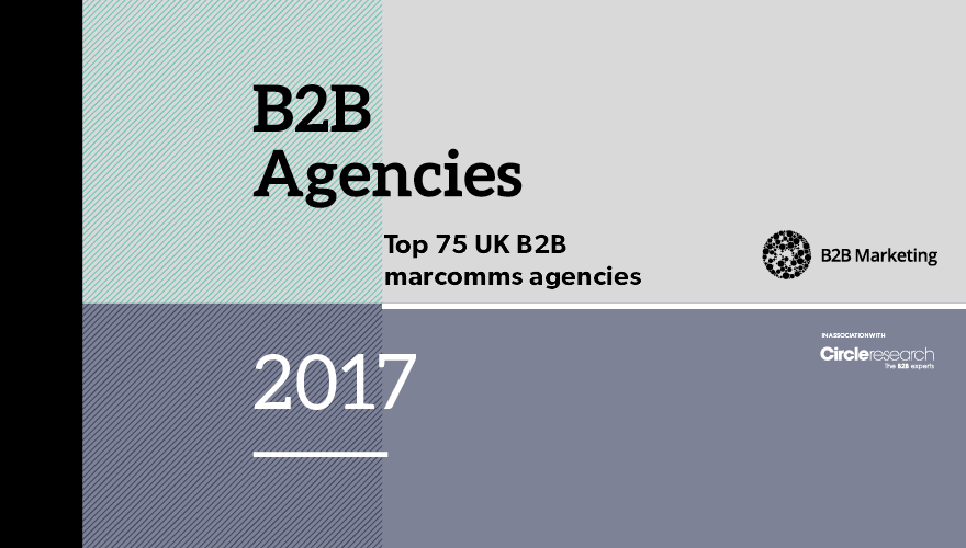Top 75 UK B2B marcomms agencies 2016-17 image