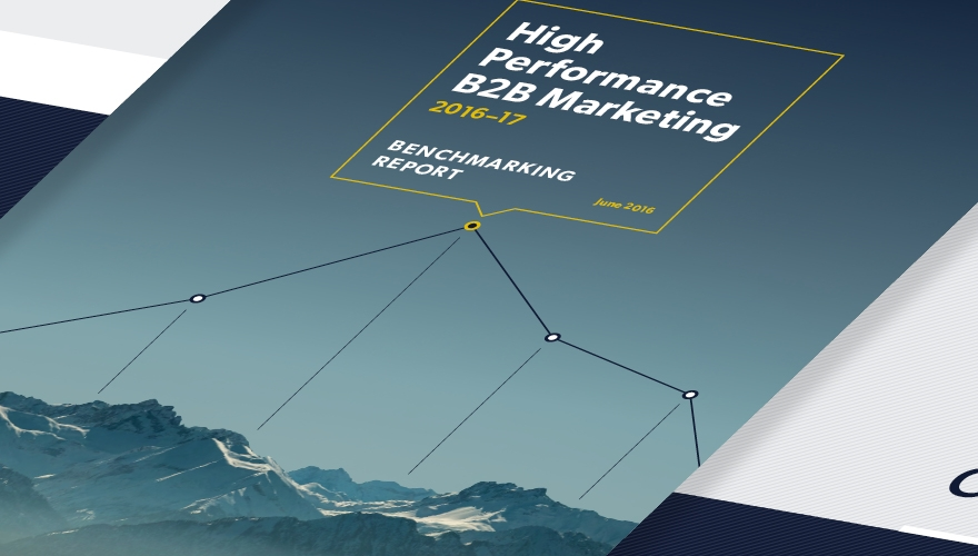 B2B marketing high performance marketing report image
