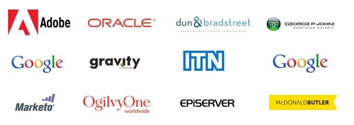 B2B Marketing media client logos
