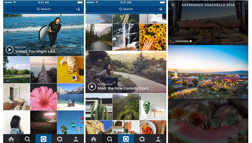Instagram introduces 'featured' video channel image
