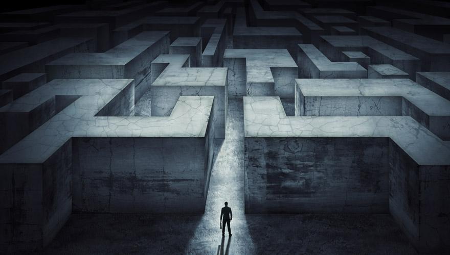 Going through a maze