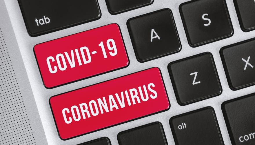 coronavirus keyboard