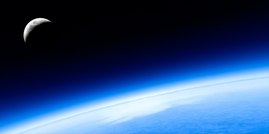 The curvature of the earth, from space