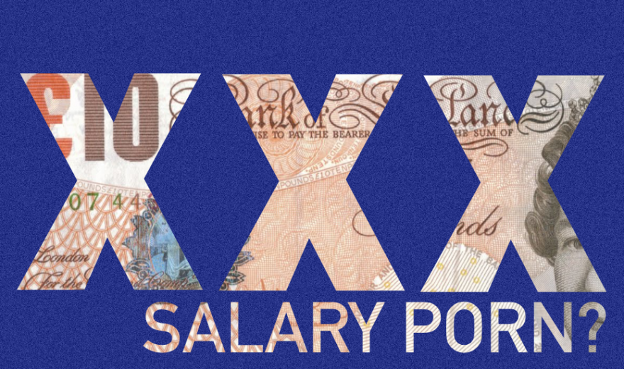 10 pound note and salary title text
