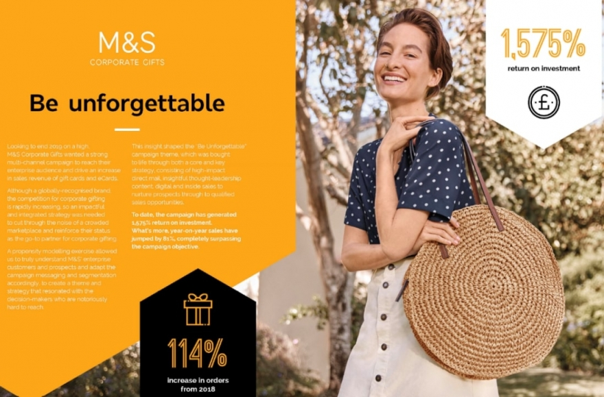 Really B2B's campaign for M&S Corporate Gifts