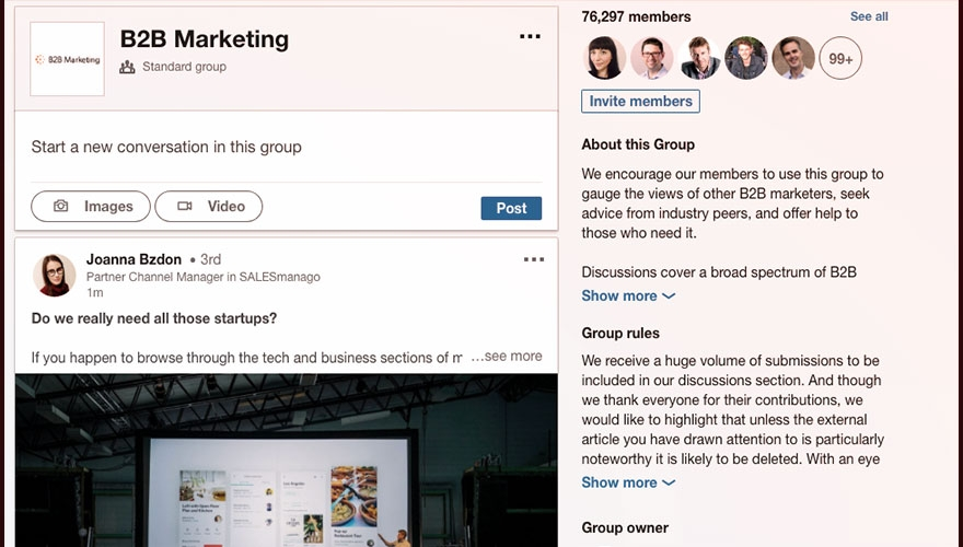 LinkedIn relaunches Groups feature on website and app image