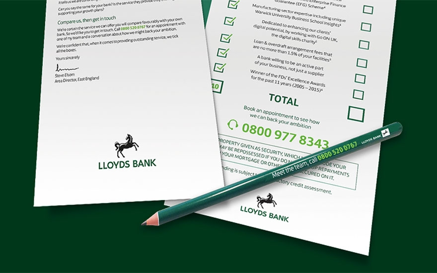 Awards case study: How Lloyds Banking Group used direct mail to convert 707 SME prospects into customers image