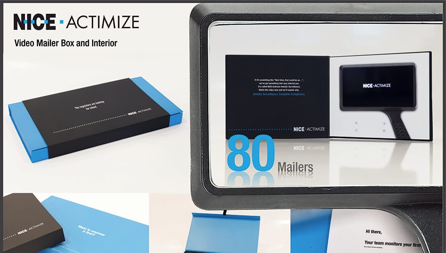 NICE Actimize direct mail campaign image