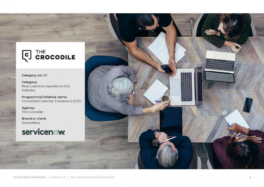 The Crocodile and ServiceNow win 'Best customer experience (CX) initiative'