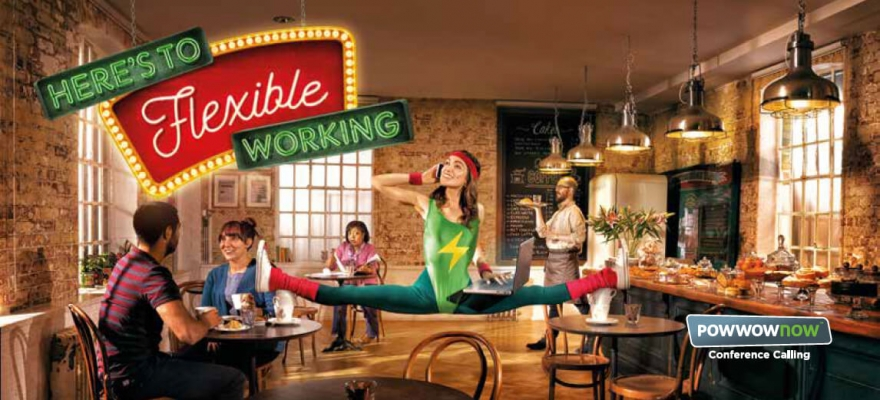 Powwownow flexible working campaign image