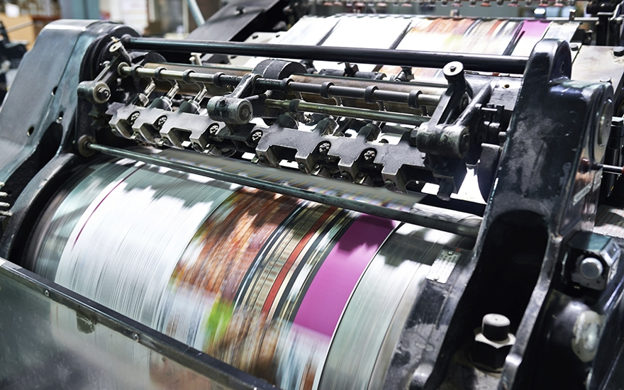 Printing press b2b marketing