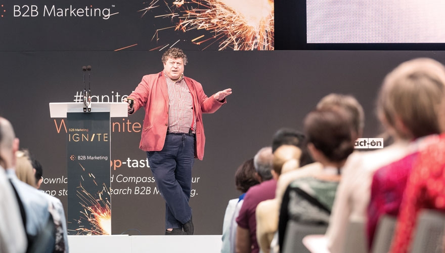 Ogilvy chairman Rory Sutherland speaking at B2B Ignite 2019