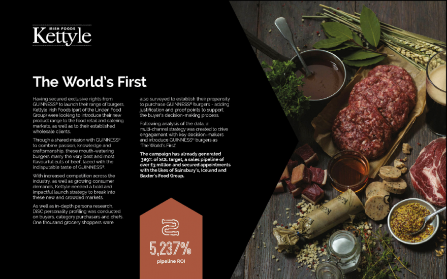 Really B2B's campaign for Kettyle Irish Foods (part of the Linden Food Group)