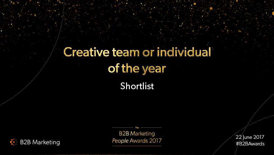 B2B Marketing People Awards: Meet the finalists for 'Creative team or individual of the year' image