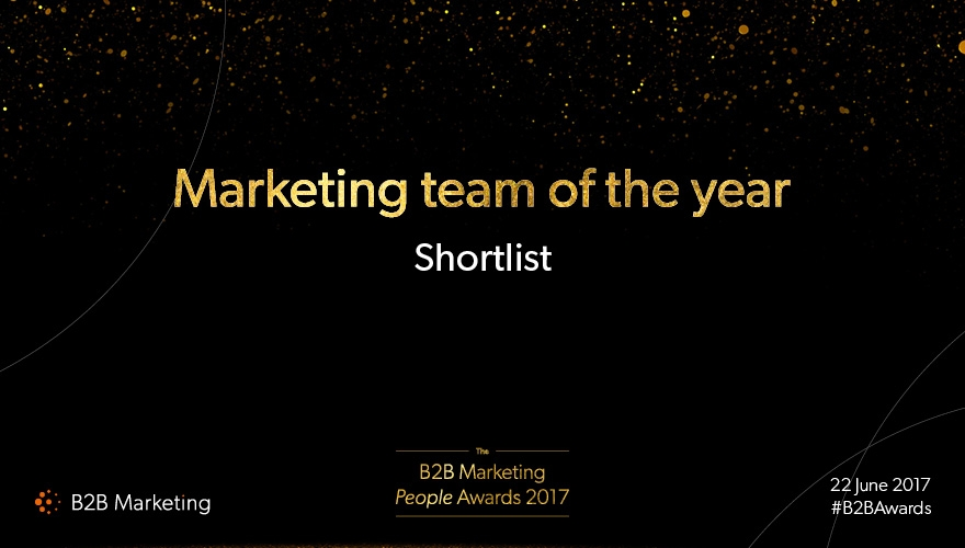 B2B Marketing People Awards: Meet the finalists for 'Marketing team of the year' image