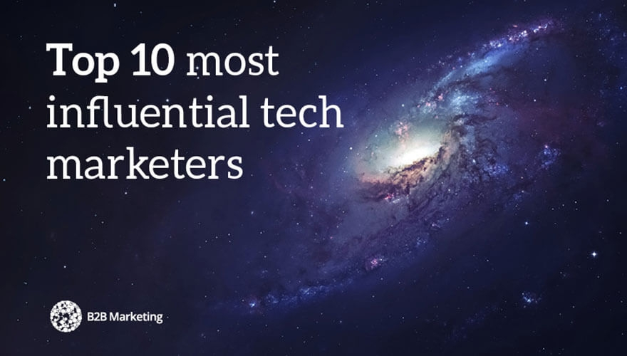 Top 10 most influential technology marketers image