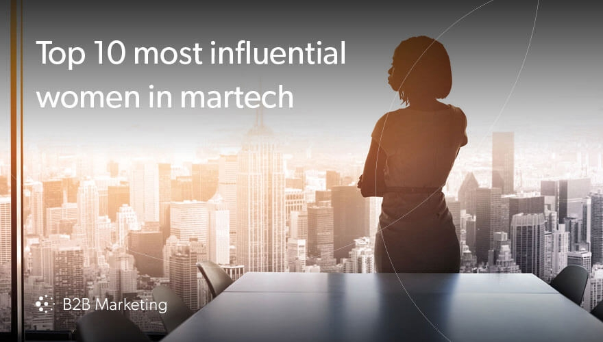 Top 10 most influential women in martech image