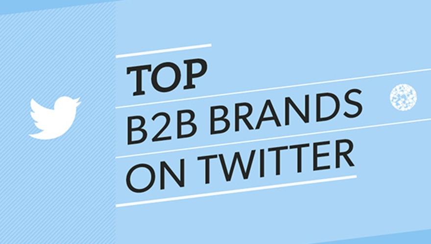 Top Six B2B brands on Twitter Image