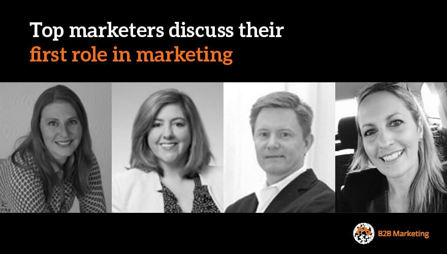 Top marketers discuss their first role in marketing image