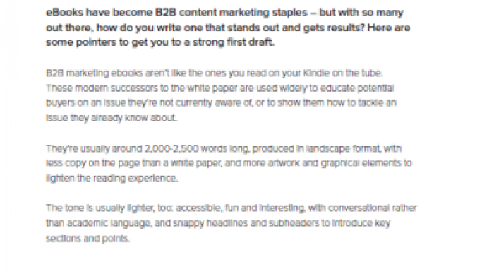 How to write an ebook for a B2B audience